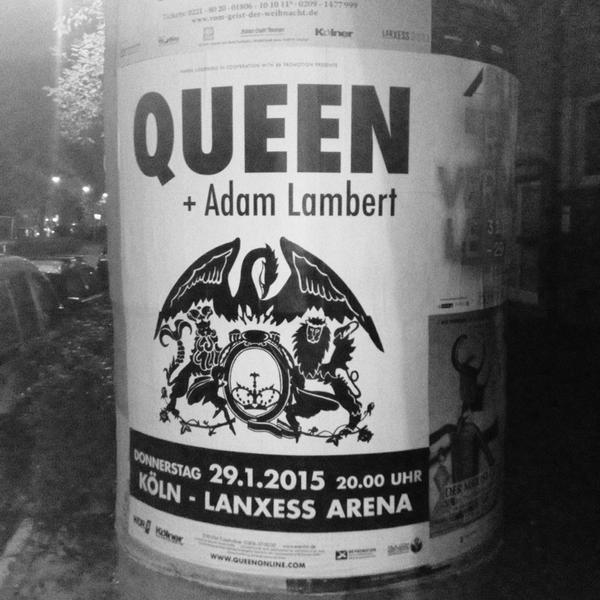 adam lambert brasil poster promocional do show de queen. Black Bedroom Furniture Sets. Home Design Ideas