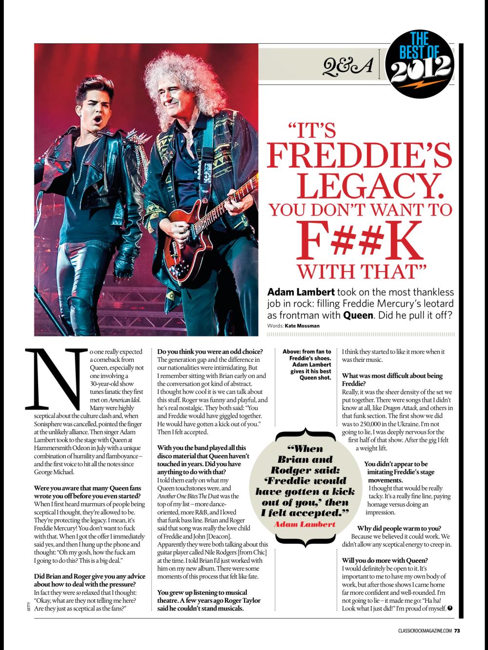 Acima: de um fã para intérprete de Freddie. Adam Lambert dá o melhor de si para o Queen.