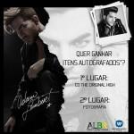 Concurso Cultural Concorra a itens autografados por Adam Lambert Parahellip